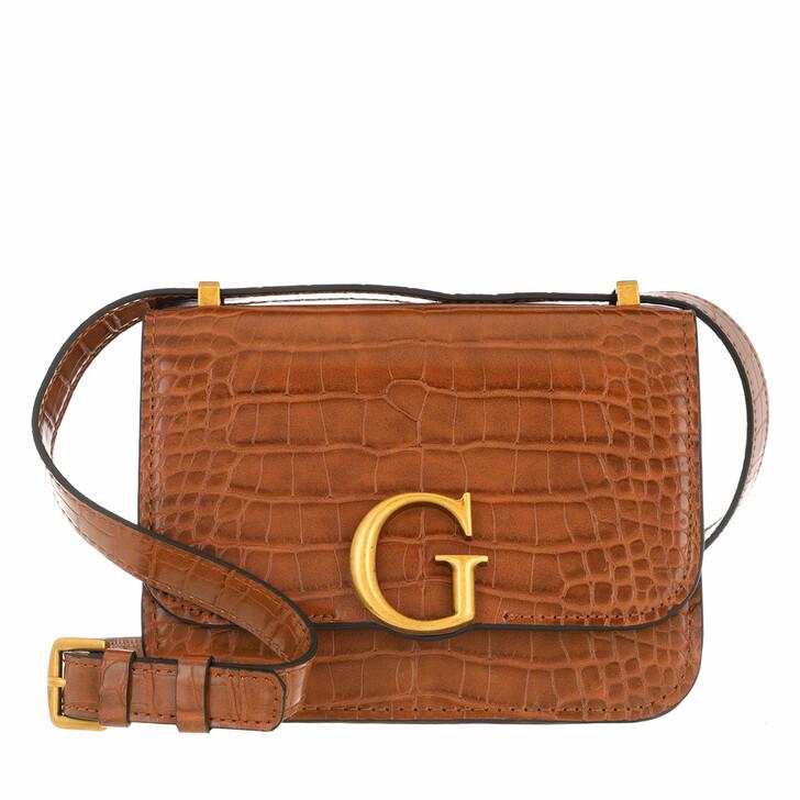 Handtasche, Guess, Corily Convertible Xbody Flap Cognac