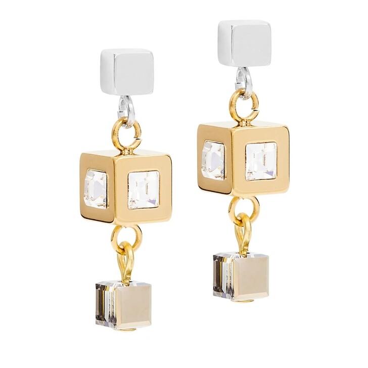 earrings, COEUR DE LION, Earrings with stickpin Gold-Silver