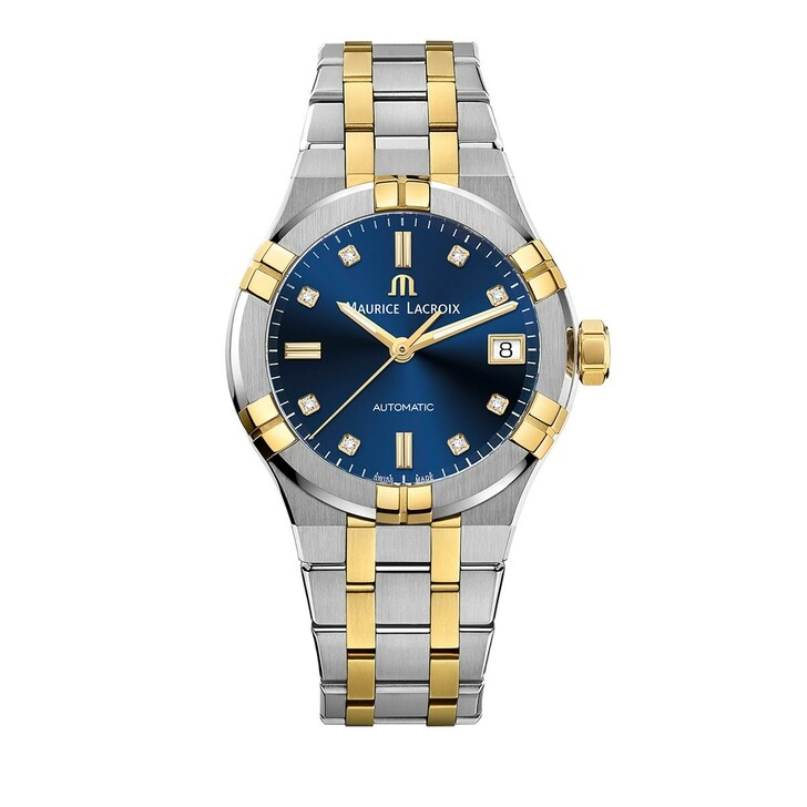 watches, Maurice Lacroix, Watch Aikon Silver & Yellow Gold
