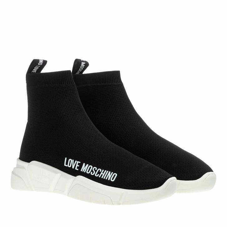 Schuh, Love Moschino, Sneakerd Gomma35 Calza  Nero