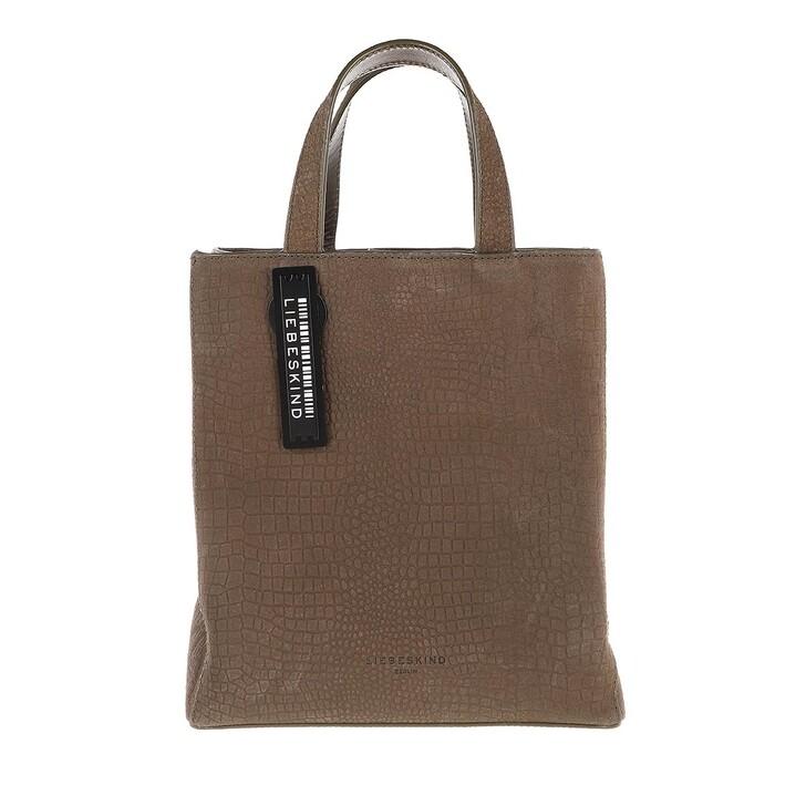 Handtasche, Liebeskind Berlin, Paper Bag Petit Suede Paper Bag S Nori Green
