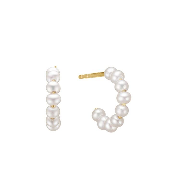 earrings, Charlotte Lebeck, Libby Pearl Earring Yellow Gold