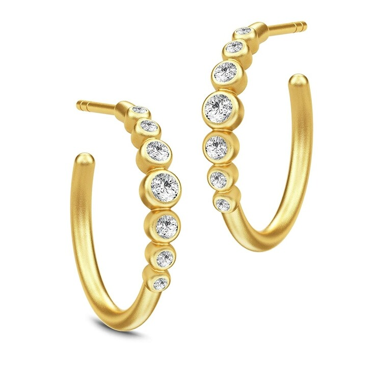 earrings, Julie Sandlau, Grace Hoops Gold