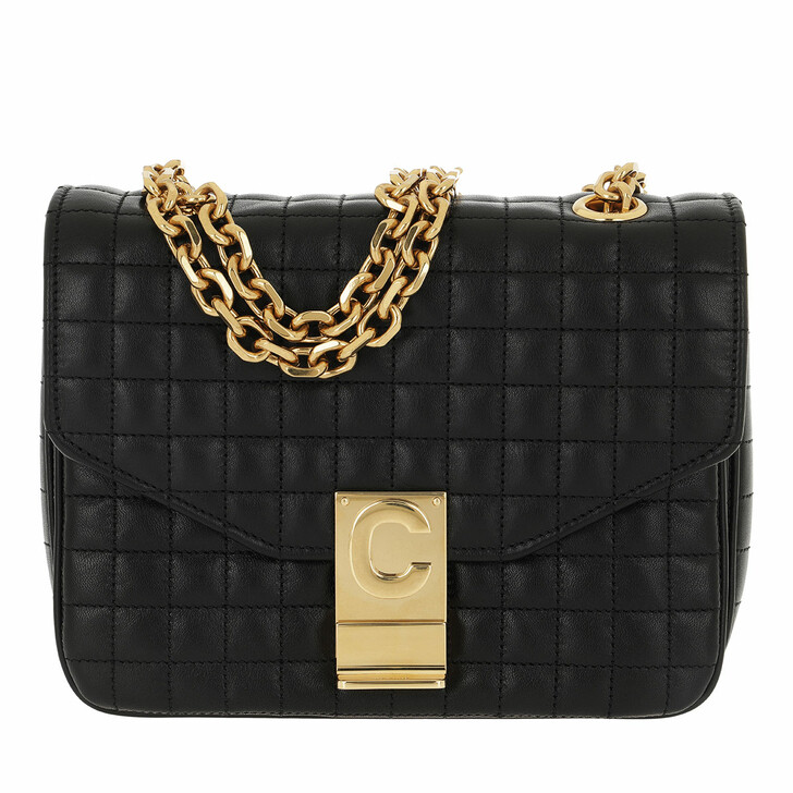 Handtasche, Celine, C Bag Small Quilted Calfskin Black