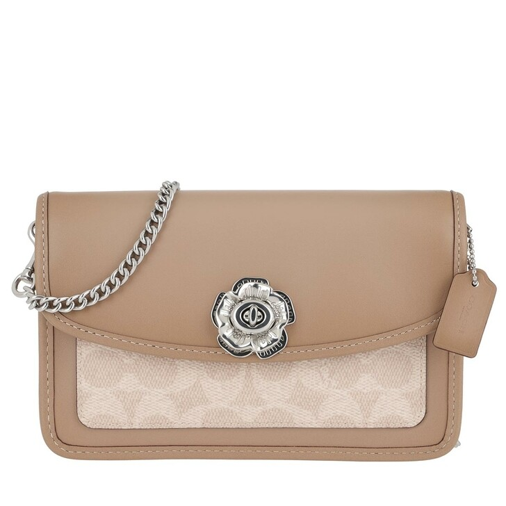 Handtasche, Coach, Coated Canvas Signature Parker Crossbody Sand Taupe