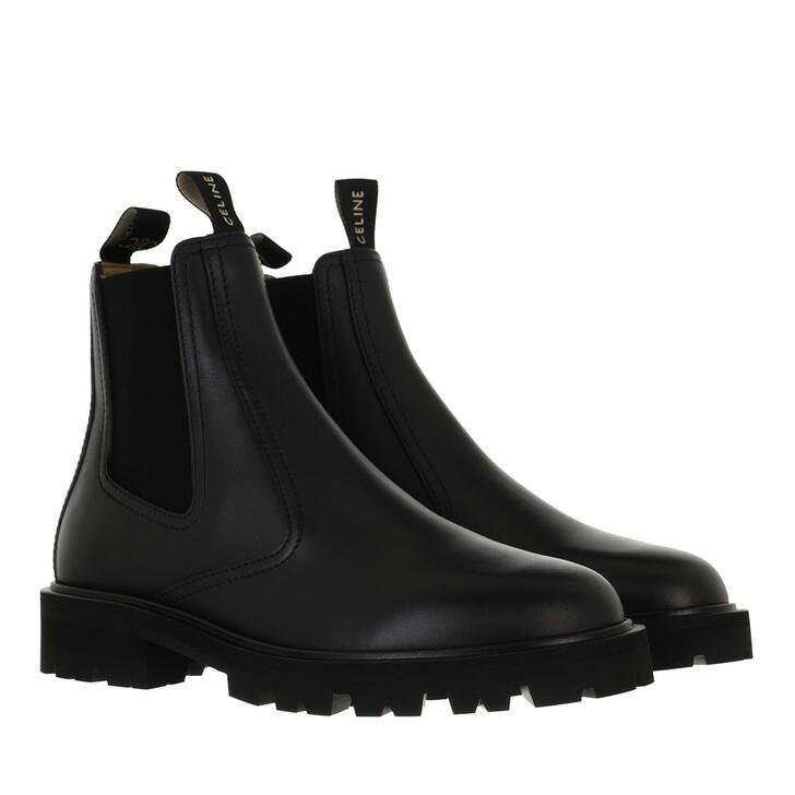 shoes, Celine, Margaret Chelsea Boots Calfskin Black