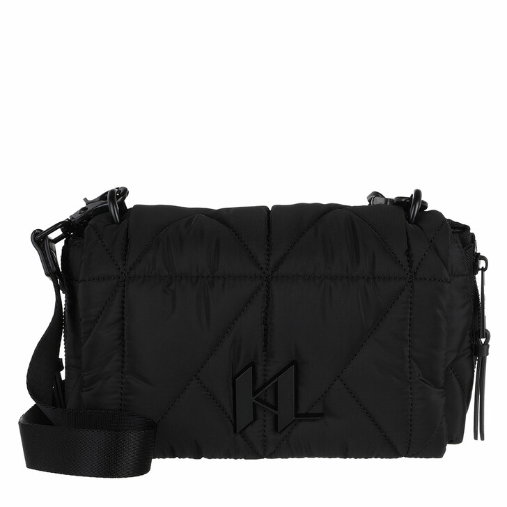bags, Karl Lagerfeld, K/Studio Nylon Sm Shoulderbag Black