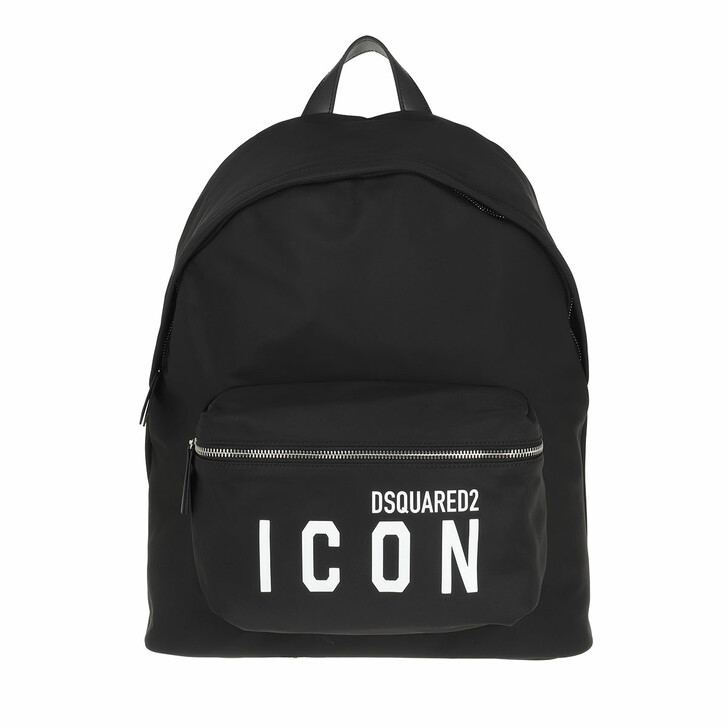 bags, Dsquared2, Icon Backpack Black/White