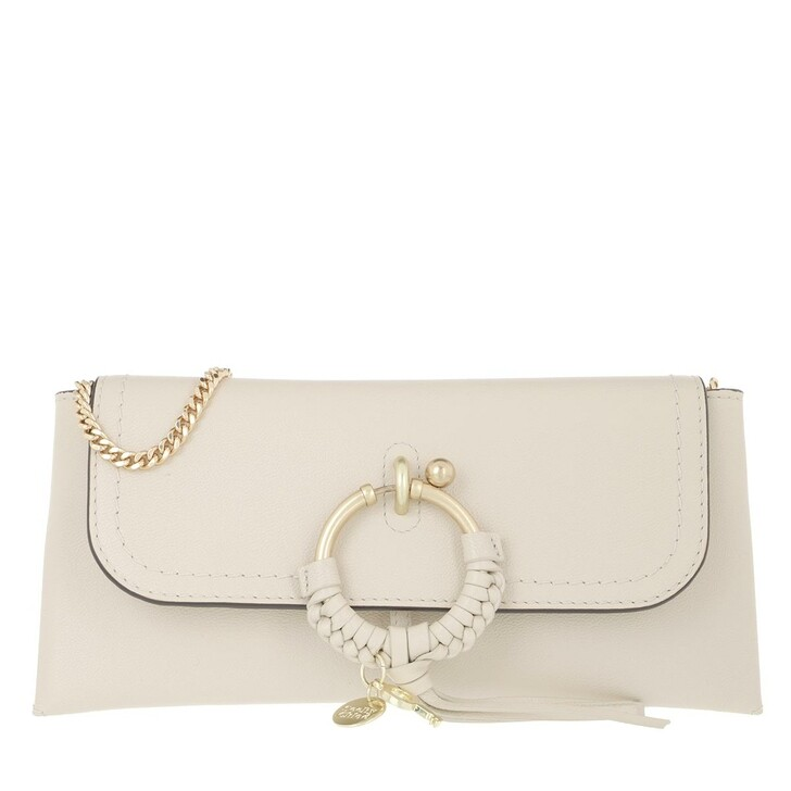 Handtasche, See By Chloé, Crossbody Cowhide Leather Suede Cement Beige
