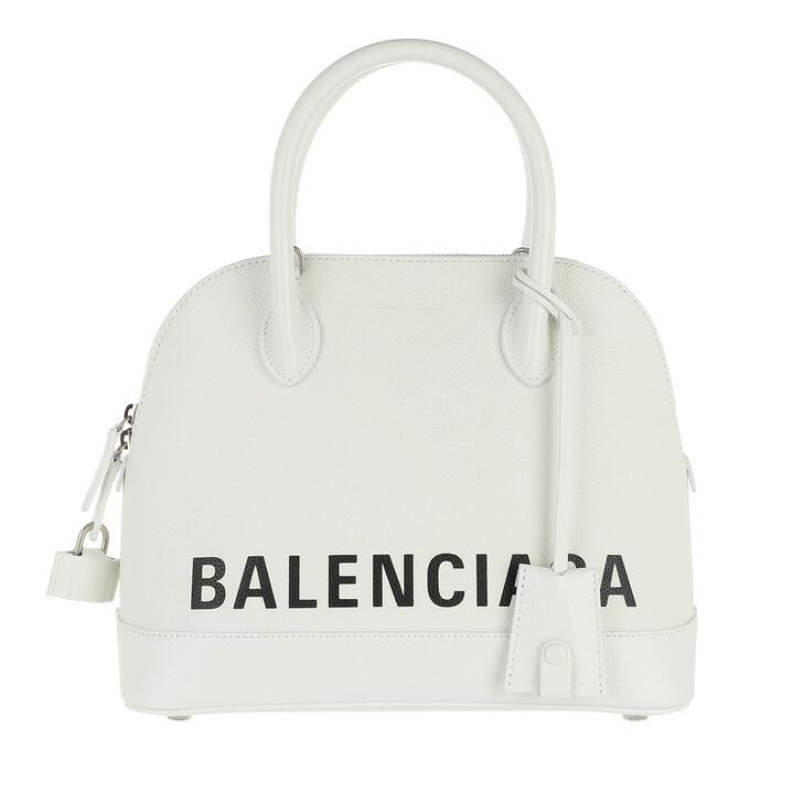 Handtasche, Balenciaga, Ville S Top Handle Bag White Black