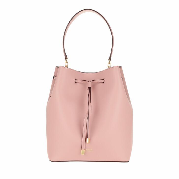 Handtasche, Lauren Ralph Lauren, Debby Drawstring Medium Mellow Pink/Porcini