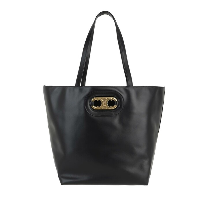Handtasche, Celine, Triomphe Medium Cabas Tote Bag Black