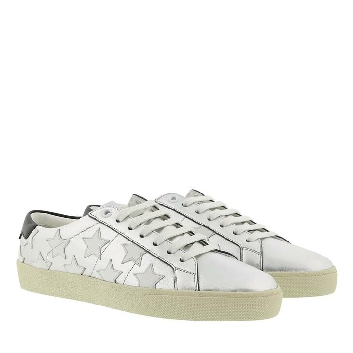 Schuh, Saint Laurent, Sneaker Leather Silver