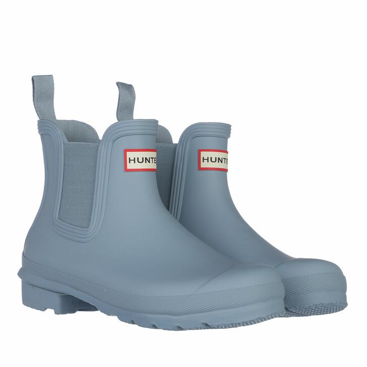 shoes, Hunter, Womens Original Chelsea Boot Blue Stem