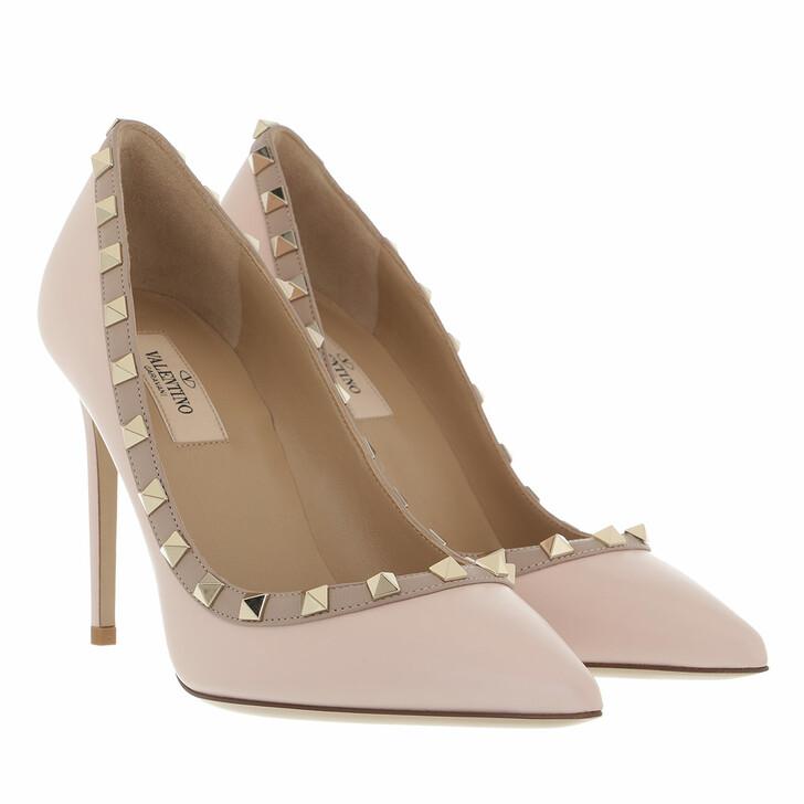 shoes, Valentino Garavani, Rockstud Pump 100 Rose Quartz/Poudre