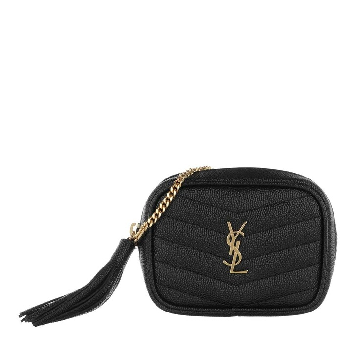 Handtasche, Saint Laurent, Lou Baby Shoulder Bag Leather Nero