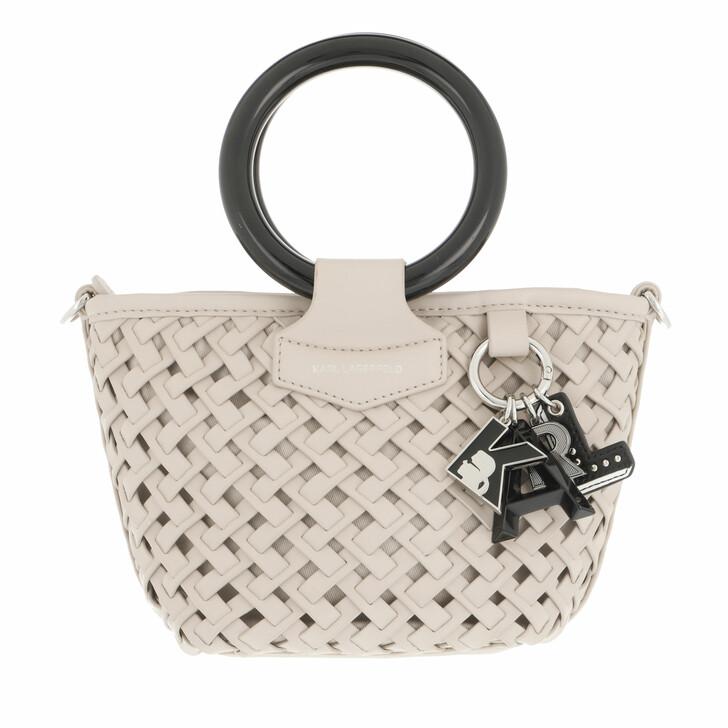bags, Karl Lagerfeld, K/Basket Small Top Handle A191 Hazelwood