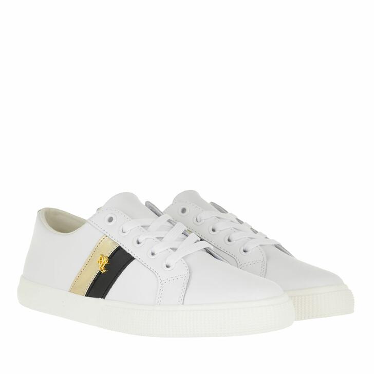 Schuh, Lauren Ralph Lauren, Janson Ii Sneakers Vulc Rlwhite/Black/Moderngold
