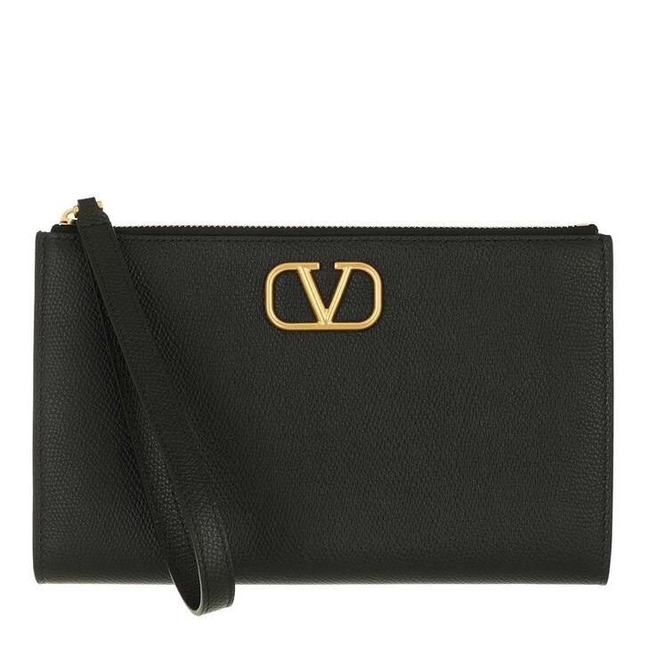 bags, Valentino Garavani, Signature Pouch Black