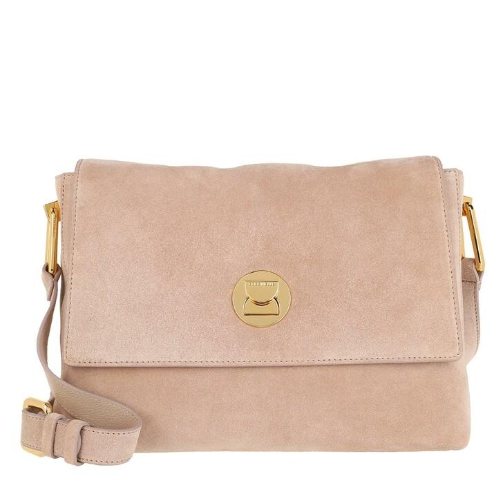 Handtasche, Coccinelle, Handbag Suede Leather Powder Pink