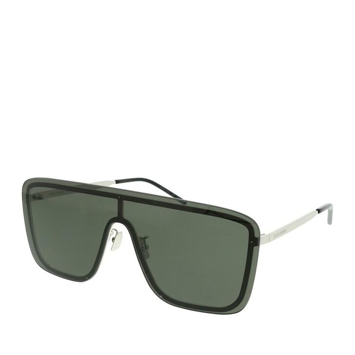 Sonnenbrille, Saint Laurent, SL 364 MASK-001 99 Sunglass UNISEX METAL SILVER