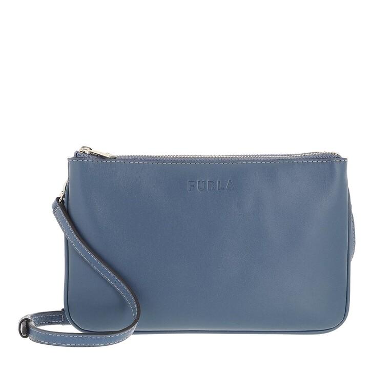 bags, Furla, Furla Miastella Mini Crossbody Blu Denim
