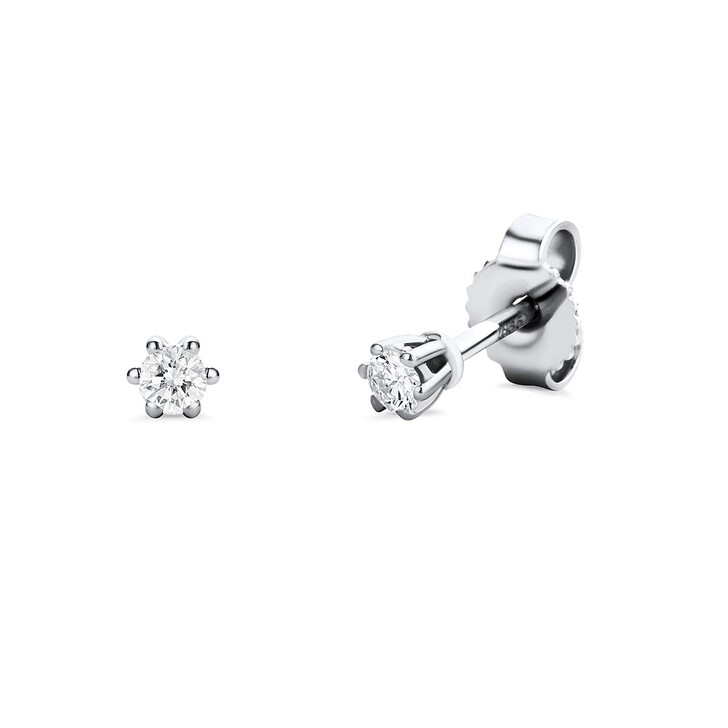 Ohrring, DIAMADA, 14KT 0.12ct Diamond Earring White Gold