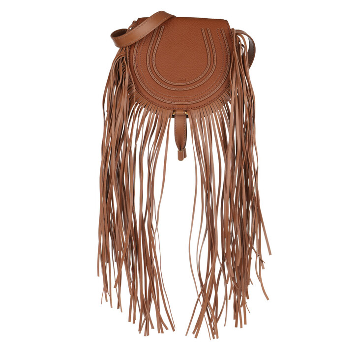 Handtasche, Chloé, Marcie Crossbody Bag Small Tan