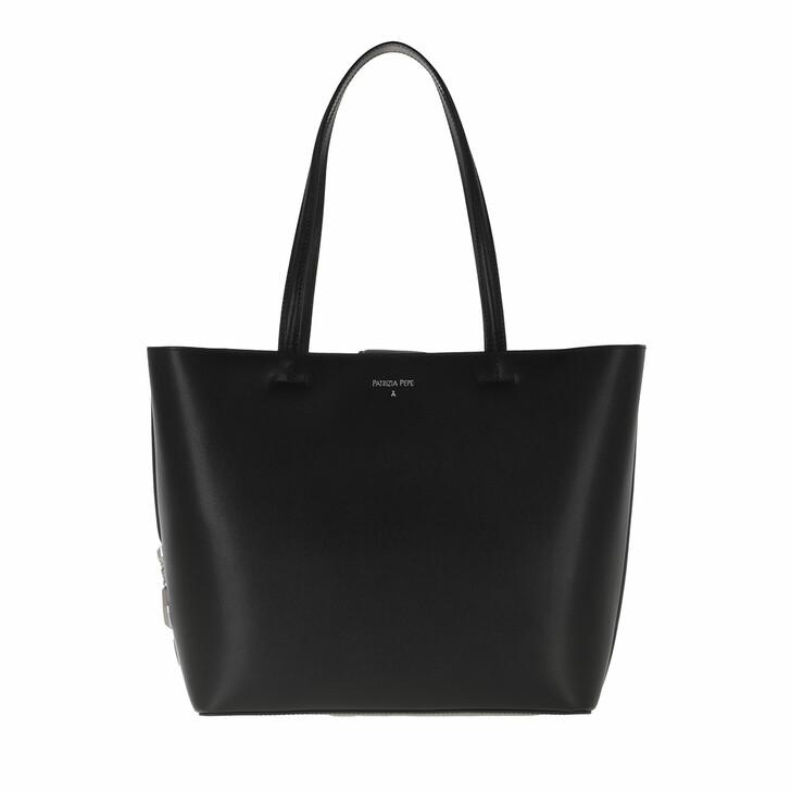 bags, Patrizia Pepe, Shopper Black