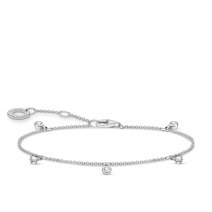 Armreif, Thomas Sabo, Bracelet White Stones Pearl White
