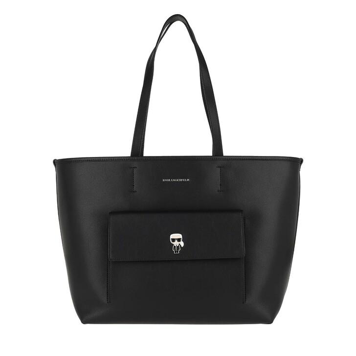 Handtasche, Karl Lagerfeld, K/Ikonik Metal Pin Tote  Black