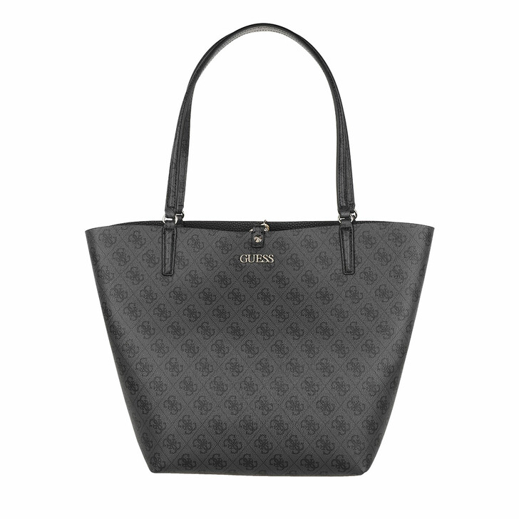 Handtasche, Guess, Alby Toggle Tote Coal/Black
