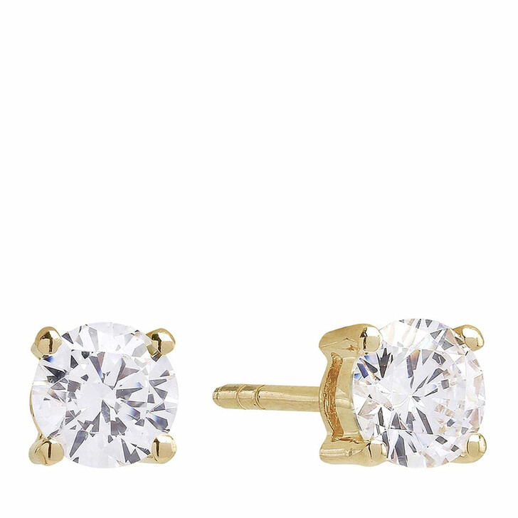 earrings, Sif Jakobs Jewellery, Princess Round Earrings 18K Yellow Gold Plated