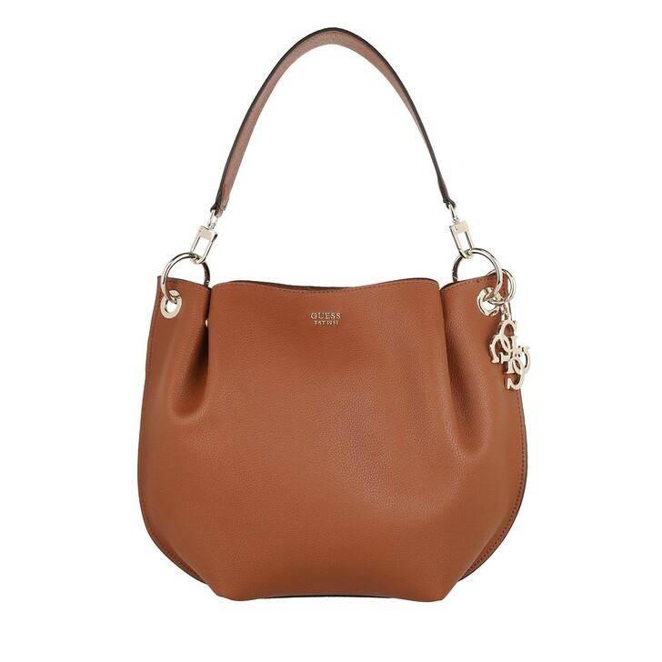 Handtasche, Guess, Digital Hobo Bag Cognac