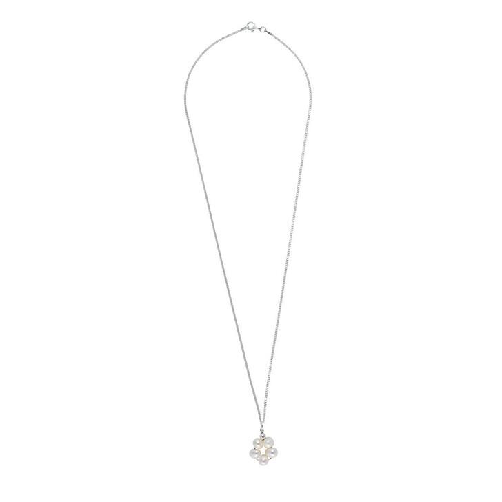Kette, LLR Studios, Tiny Link X Pearl Hoop 50cm Necklace Silver