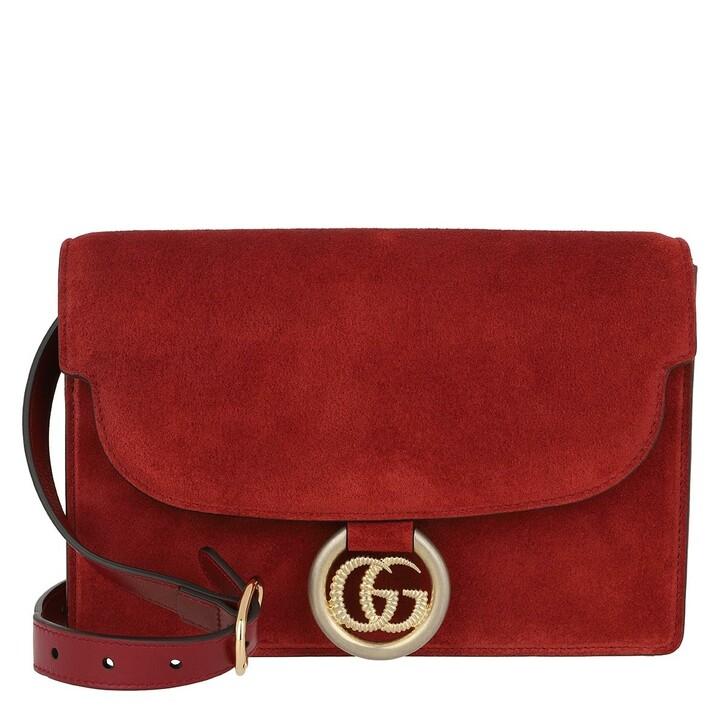 Handtasche, Gucci, GG Ring Shoulder Bag New Cherry Red