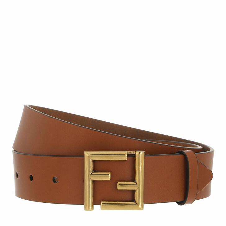 belts, Fendi, Logo Belt Cuoio