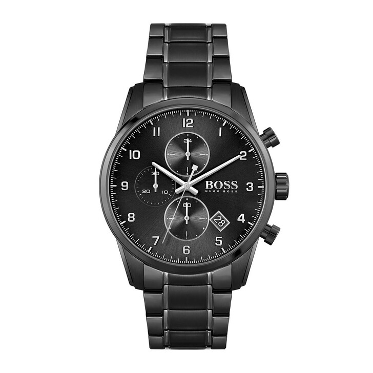 Uhr, Boss, Men Chronograph Skymaster Black