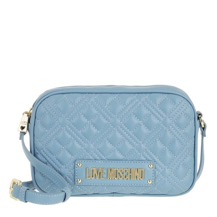 bags, Love Moschino, Borsa Quilted Nappa Pu  Azzurro