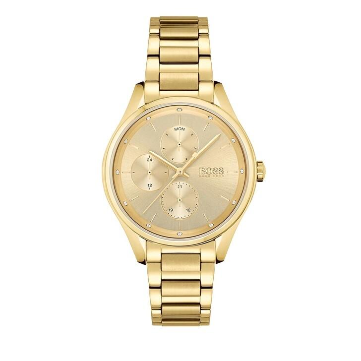 Uhr, Boss, multifunctional watch Gold