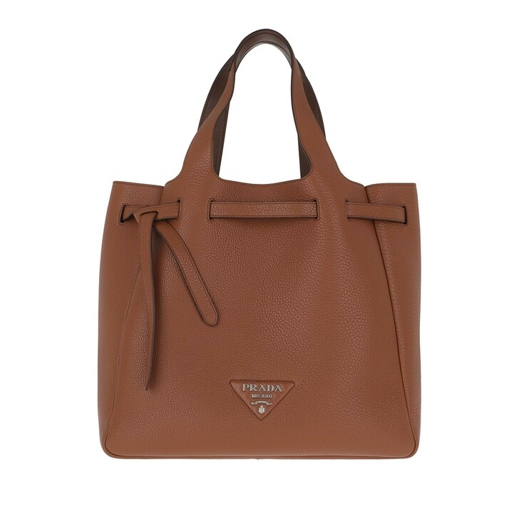 Handtasche, Prada, Handle Bag Leather Cognac/Cocco