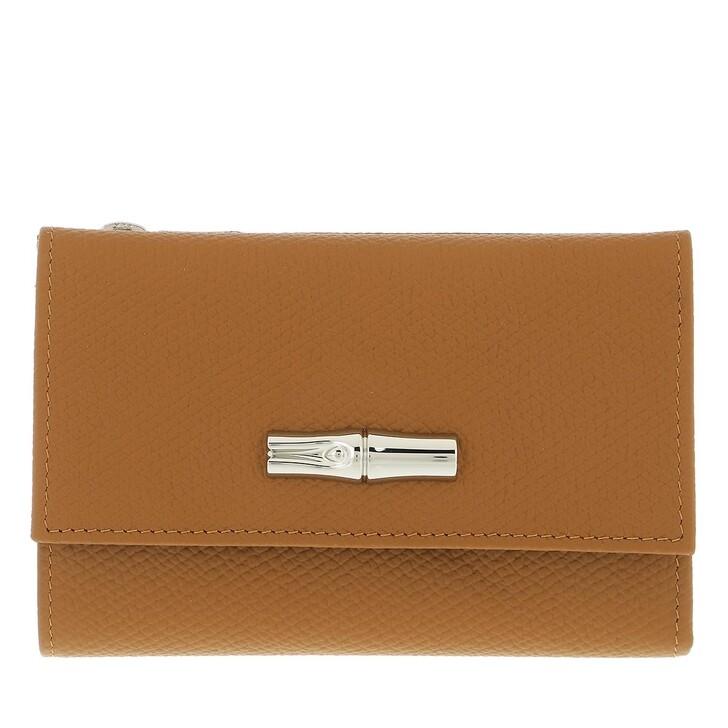 wallets, Longchamp, Roseau Wallet Naturel