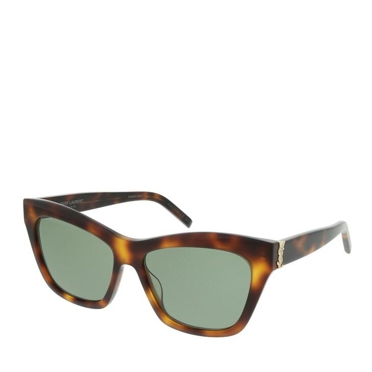 Sonnenbrille, Saint Laurent, SL M79-002 56 Sunglasses Woman Havana