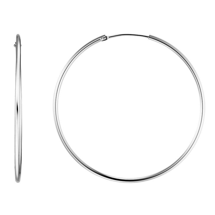 earrings, BELORO, Creole Earring 8k L Silver