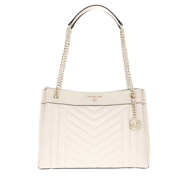 Handtasche, MICHAEL Michael Kors, Susan MD Shoulder Light Cream