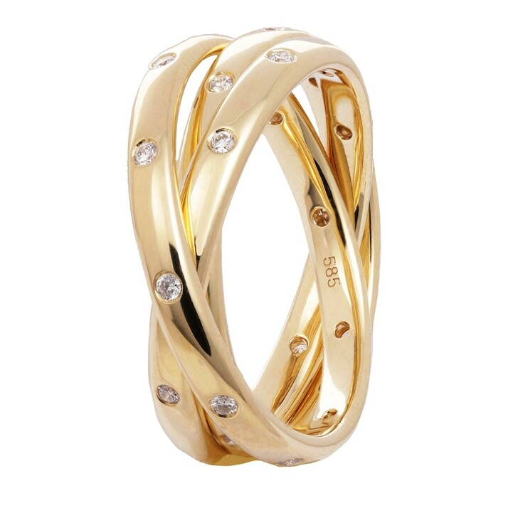 rings, VOLARE, Ring 30 Brill ca. 0,30 Yellow Gold