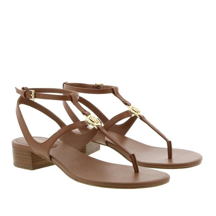 Schuh, MICHAEL Michael Kors, Vachetta Stacked Sandals Luggage
