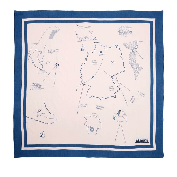 Schal, Closed, Scarf Soft Pink/Blue