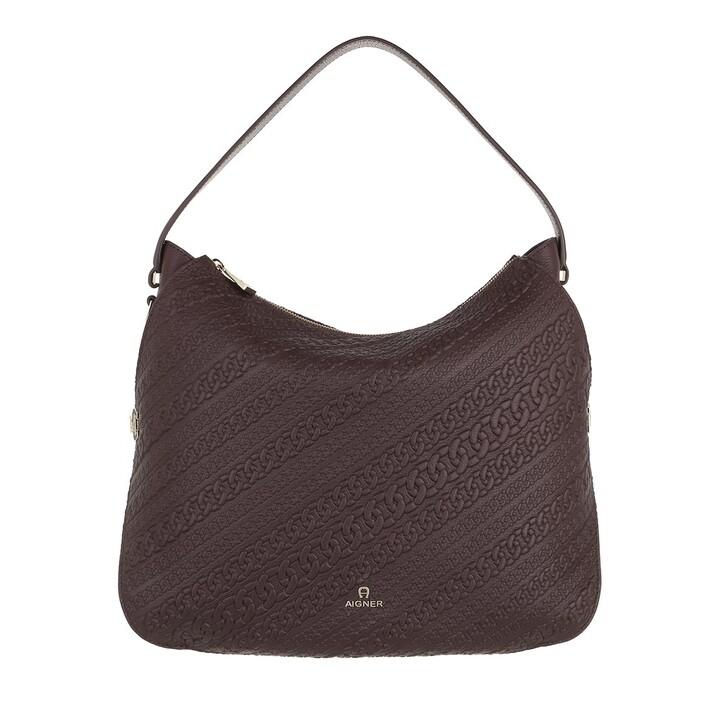 bags, AIGNER, Milano Hobo Bag Espresso Brown
