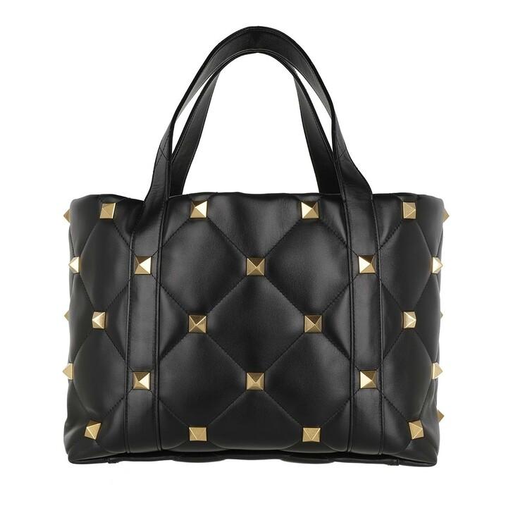 Handtasche, Valentino Garavani, Roman Studs The Tote Bag Leather Black